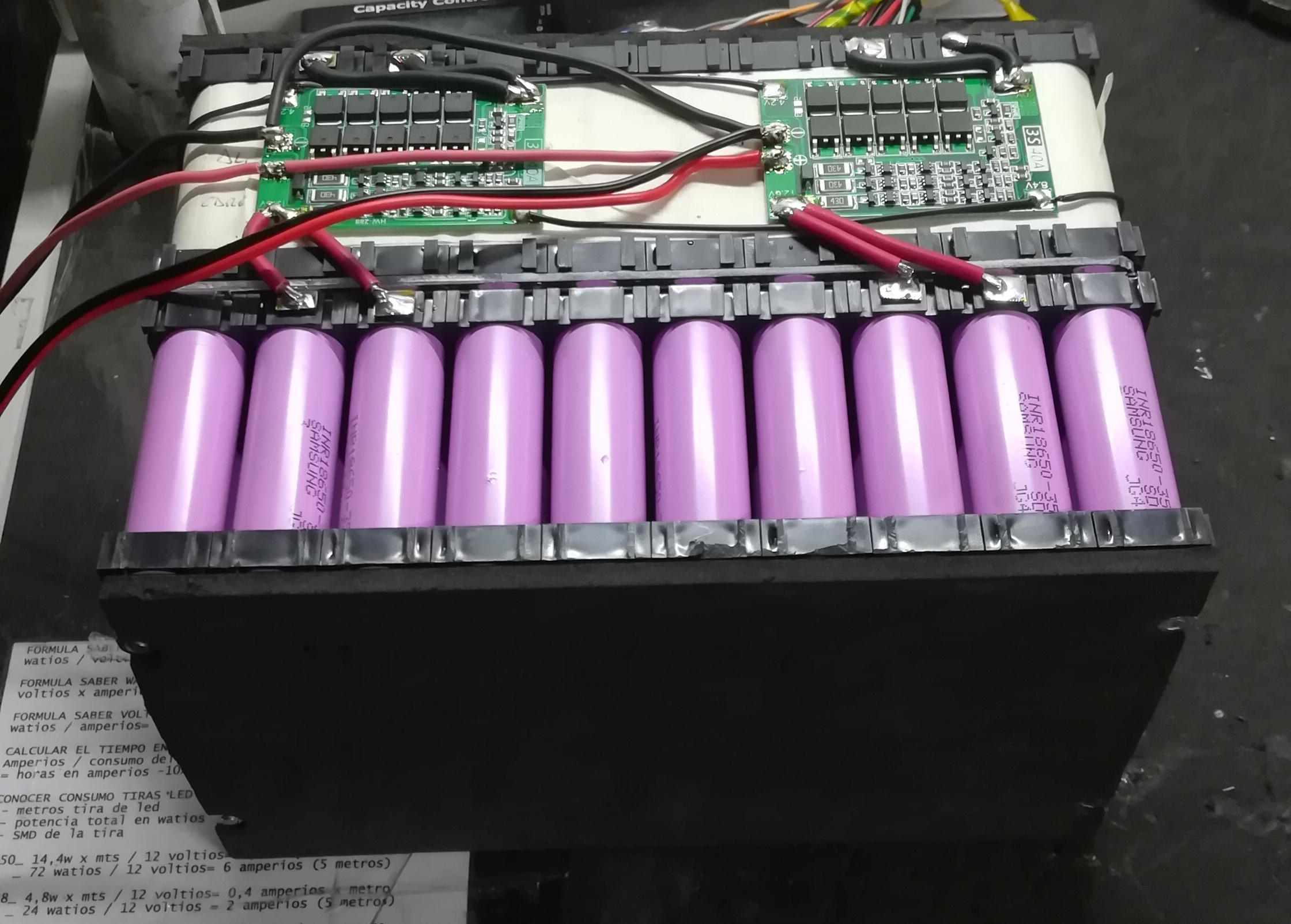 Bateria litio recargable 12v celdas Sams